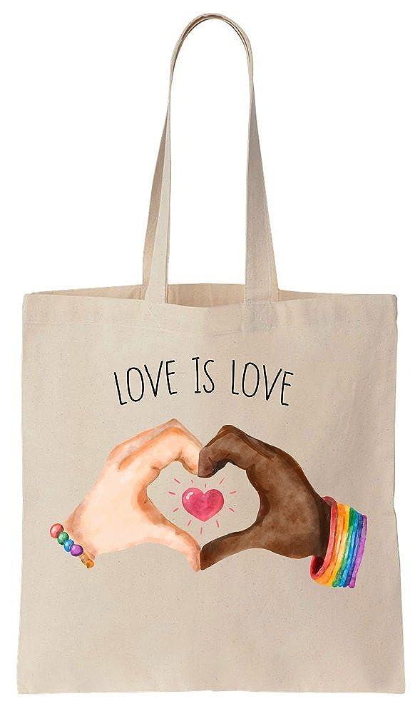 Love Is Love Despite Your Race Cotton Canvas Tote Bag