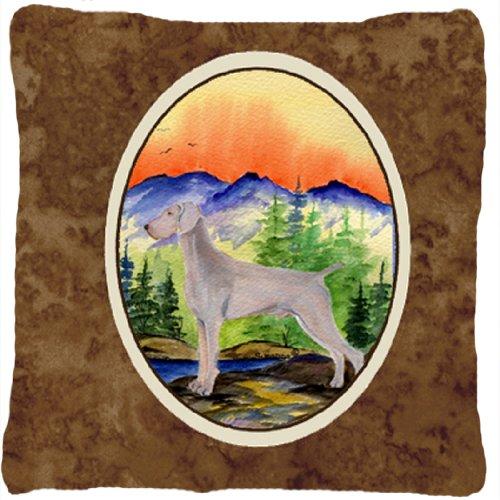 UPC 615872503483, Caroline's Treasures SS8267PW1414 Weimaraner Decorative Canvas Fabric Pillow, Large, Multicolor