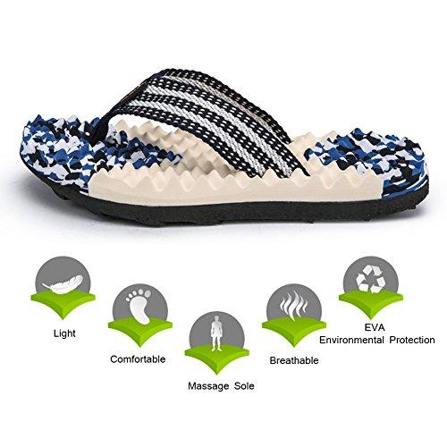 Non Flip Slip Thong Platform Blue Beach Light Men's Flops Padgene Sandals Weight Slippers Cq5Swtnx