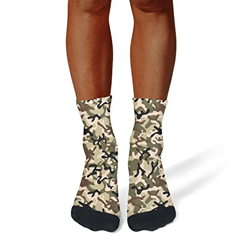 Milr Gile Unisex digital woodland camo Crew Tube Socks Crazy Novelty Socks High Athletic Socks