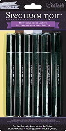 Spectrum Noir Marker Set Next Generation, Essential (SPECN-ESSEN6) (Creme Paper)