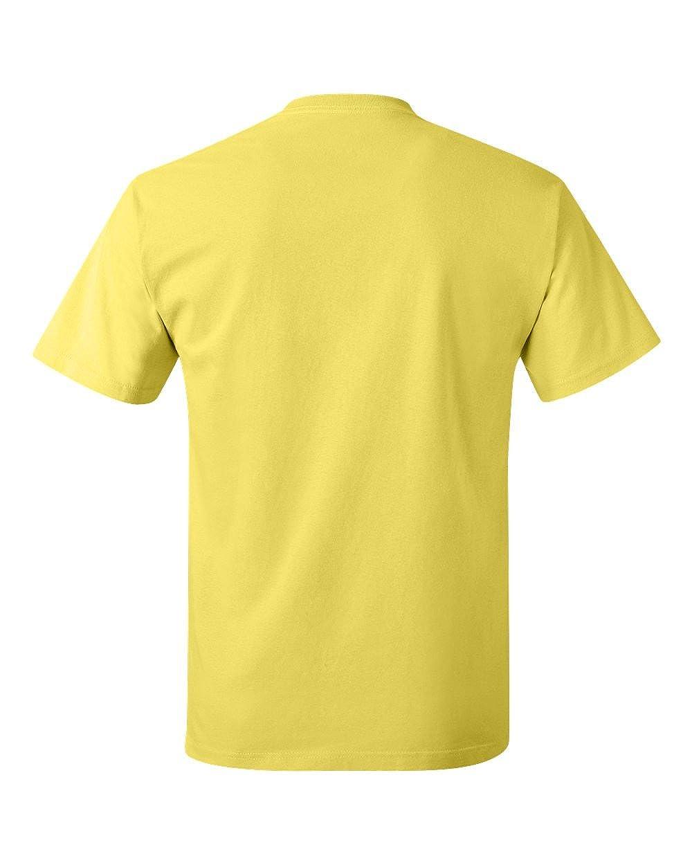 Style # 5250T - Original Label Yellow 4XL - Hanes Mens 61 Oz Tagless T-Shirt
