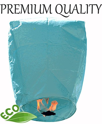 Just-Artifacts-MINI-Premium-Eco-Wire-Free-Eclipse-Floating-Sky-Lanterns-Set-of-20-Blue