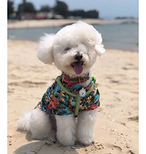 Stock Show Pet Hawaiian Shirt, 2018 NewStyle Summer Beach Vest Short Sleeve Pet Clothes Dog Top Floral T-Shirt Hawaiian Tops Dog Jackets Outfits Dogs Cats, Blue, XS