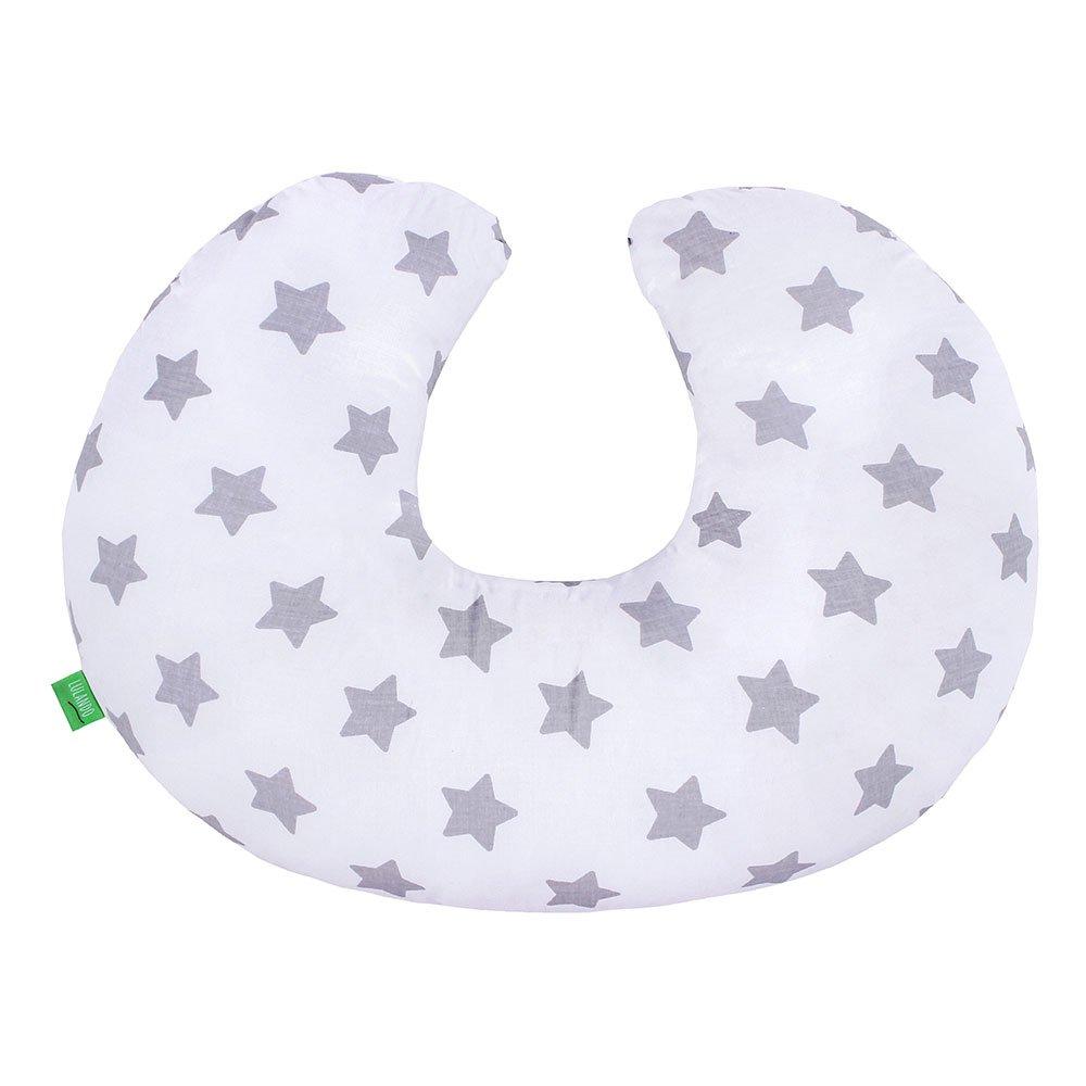 Lulando Minky Cojín De Lactancia De Doble Cara para Mantener El Cuello Ideal para Neonatos para Los Niños Durante El Viaje, Farbe:Mint - Grey Stars