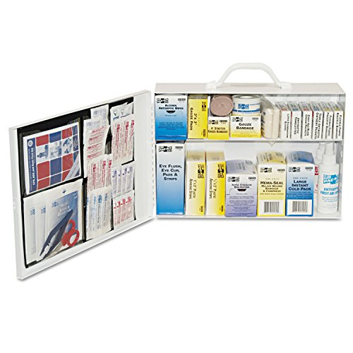 Pac-Kit by First Aid Only 6135 435 Piece Steel Cabinet Industrial 2 Shelf First Aid Station Large Industrial First Aid