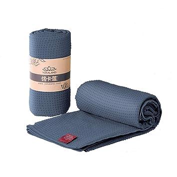 Antideslizante Toallas para esterillas de yoga con bolsa de ...