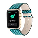 Kobwa 38MM/42MM Watch Band for Apple Watch, Fashion Vintage PU Leather Band Polka Dots SmartWatch Bracelet Strap Replacement Watchband for Apple Watch IWatch Series 1 2 & Series 3