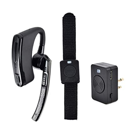5b1e8933e3b NAGOYA Wireless Bluetooth Two-Way Radio Earpiece Headset with 2.4G Wireless  Finger PTT for