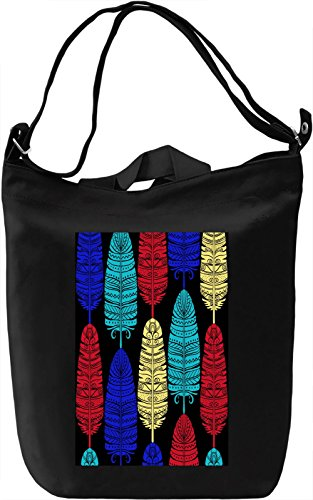 Feathers Texture Borsa Giornaliera Canvas Canvas Day Bag| 100% Premium Cotton Canvas| DTG Printing|