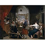The high quality polyster Canvas of oil painting 'Velazquez Diego Rodriguez de Silva y The Fable of Arachne or The Tapestry Weavers Ca. 1657 ' ,size: 30 x 39 inch / 76 x 99 cm ,this High Resolution Art Decorative Canvas Prints is fit for Wall art artwork and Home gallery art and Gifts