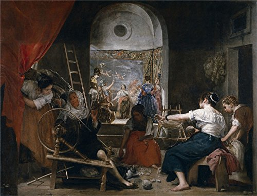 Oil Painting 'Velazquez Diego Rodriguez De Silva Y The Fable Of Arachne Or The Tapestry Weavers Ca. 1657' 30 x 39 inch / 76 x 99 cm , on High Definition HD canvas prints, Kids Room, Kitchen, N decor
