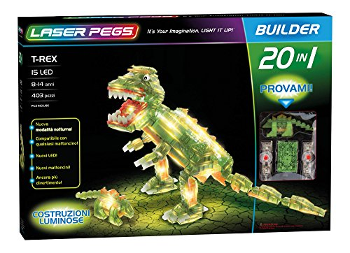Laser Pegs T-Rex 20-in-1 Building Set (T-rex Model Helicopter)
