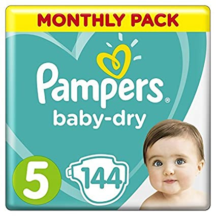 Pampers Baby Dry - Pañales para bebés, Talla 5 (11-16kg),