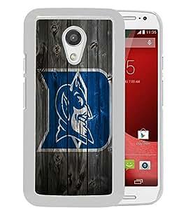 AZE Beautiful Fashion NCAA Atlantic Coast Conference ACC Footballl Duke Blue Devils 8 White Case Cover For Moto G 2nd gen