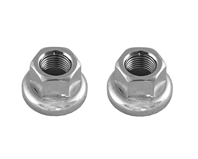2 pcs. Hub Axle Nut HBT30 M9//M10 with Movable Flange 9mm//10mm Flanged Silver