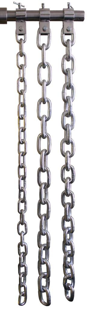 USA Zinc Weight Lifting Chain Set- 30, 45, 60 Lbs (3 pairs total, collars included)
