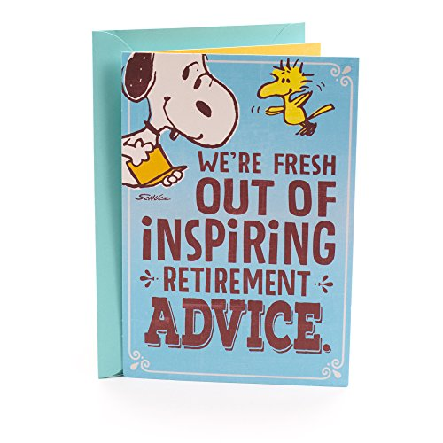 Snoopy Retirement Card