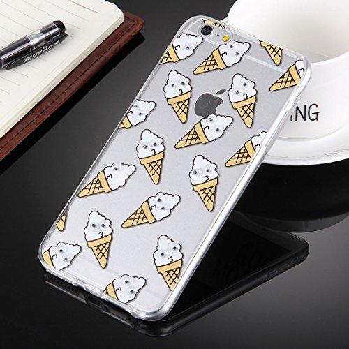 Phone Taschen & Schalen Für iPhone 6 Plus & 6s Plus Pferd mit schwarzen Augen Muster transparent weichen TPU Schutzhülle Fall ( SKU : IP6P0237B )