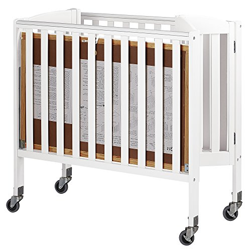 Dream On Me Folding Crib (Dream On Me 3-in-1 Folding Portable Crib, White, Large)