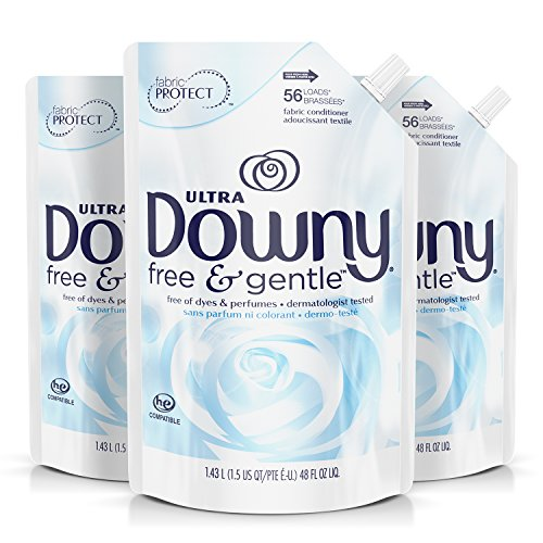 - Downy Free & Gentle Liquid Fabric Conditioner, Fabric Softener - 48 Oz. Pouches, 3 Pack