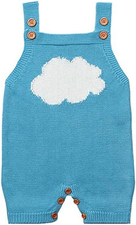 QIQI Suéter de Punto de hildren, bebé Punto Nube Colgar sin Mangas ...