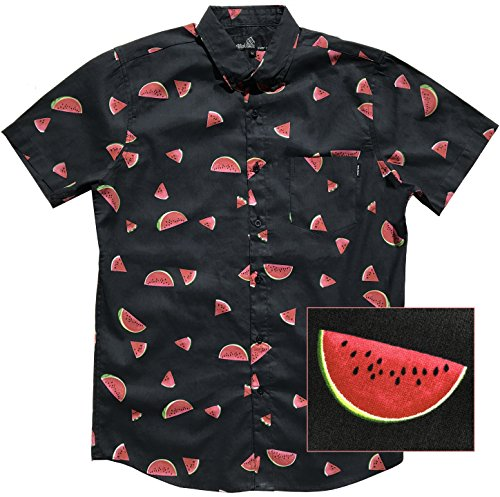 (Official Molokai Shirts (Watermelons (Black), XXL))