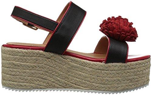 Love Moschino Womens Ja16107i15id100a Sneaker Nero E Rosso
