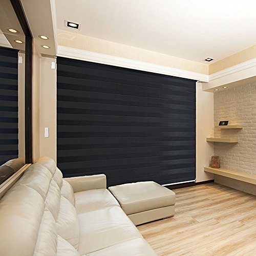 Zebra Design Privacy Horizontal Motorized-Remote Blinds (Roller, Window Shades) detail review