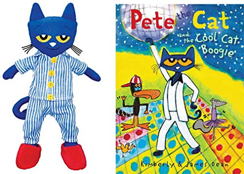 Pete The Cat Bundle with 14.5 Plush Doll and Pete The Cat and The Cool Cat Boogie Hardback Book (BedtimePete)