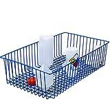 24-3/4'' L x 14'' W x 6'' H Poxygrid Steel Wire Carrying Basket