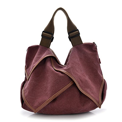 Bag Canvas Bag Burgundy Burgundy Shoulder XIX Canvas XIX Canvas XIX Shoulder O0pqOd