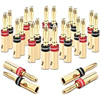 UGREEN Banana Plugs Corrosion Resistant 24K Gold Plated Connectors (12PACK)