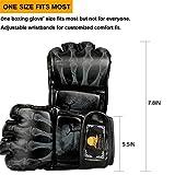 ZooBoo MMA Gloves, Half-Finger Boxing Fight Gloves