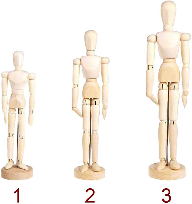 Great for Drawing or Desktop Decor S28esong Wooden Jointed Doll,Wooden Mannequin Artist Manikin