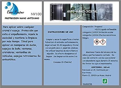 Spray Anti vaho para cristales y espejos de nanotecnología. Evita ...