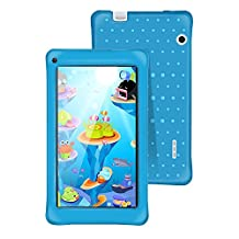 AOSON Touch 7 Inch kids Tablet, Android 5.1 Lollipop OS A33 Quad-core IPS 1024×600 Touchscreen, 1GB RAM 8GB 2400mAh,Dual Camera Parental Control - iWawa Wifi Bluetooth Tablets PC M751-S2 (Blue)