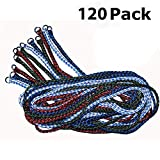 Durable Braided Poly Dog Slip Leads, Animal Control Kennel 5 FT Slip Leads, Strong Leashes for Dogs, Bulk Dog Leashes, Grooming, Shelter, Rescues, Vet, Veterinarian, Daycare or Pet Training (120 Pack)