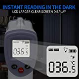 Forehead Thermometer for Adults, AXHKIO Non Contact Infrared Thermometer for Fever Body Temperature Scanner, Instant Accurate Reading with LCD Display