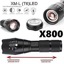 Willsa Useful X800 Military Style LED Tactical Flashlight 5000 Lumens