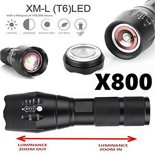 Willsa Useful X800 Military Style LED Tactical Flashlight 3000 Lumens