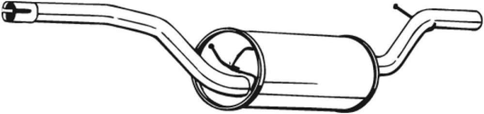 Bosal 280-251 Mittelschalld/ämpfer