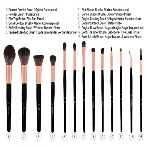 8b6195cf78e9 BH Signature Rose Gold 13-piece brush set  Amazon.co.uk  Beauty