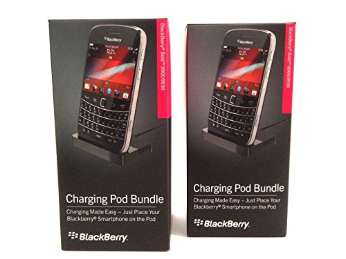 (Two) Brand New Retail Packing RIM Desktop Cradle Dock Charging Pod OEM Desktop Charger for AT&T, T-Mobile, Sprint, Verizon BlackBerry Bold 9900 9930 -Black (Curve Cradle Blackberry)