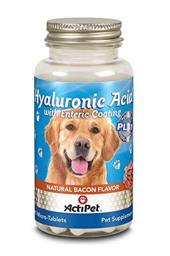 ActiPet Hyaluronic Acid w/ Enteric Coating Natural Bacon Flavor For Dogs - 60 Chewable Tablets ()