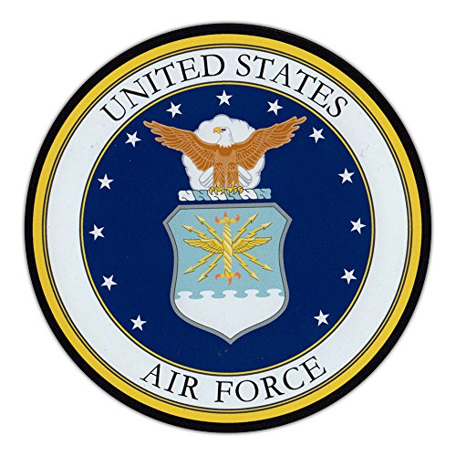 "Magnetic Bumper Sticker - United States Air Force (USAF) - Round Military Support, Pride Magnet - 5"" Round"