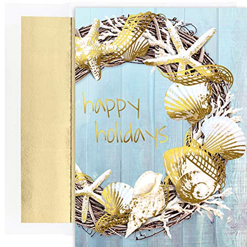 Masterpiece Warmest Wishes 18-Count Christmas Cards, Coastal ()