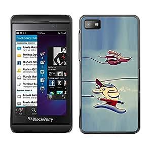 Caucho caso de Shell duro de la cubierta de accesorios de protección BY RAYDREAMMM - Blackberry Z10 - Dog Children'S Character Winter Ice