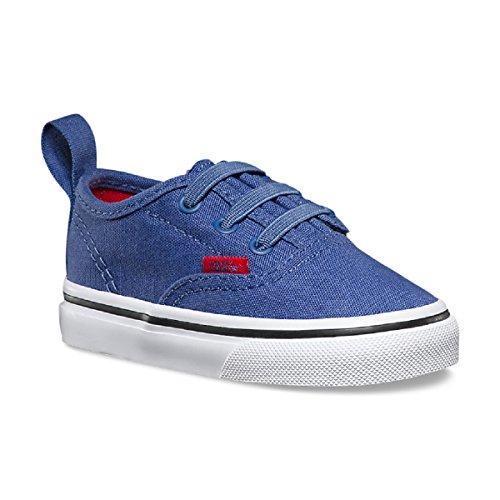 Vans Toddler Authentic V Lace Little Boys (Sport Pop) Bijou Blue/Racing Red Boys 10