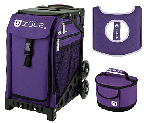 Zuca Sport Bag - Rebel with Gift Lunchbox and Seat Cover (Black Frame) by ZUCA
